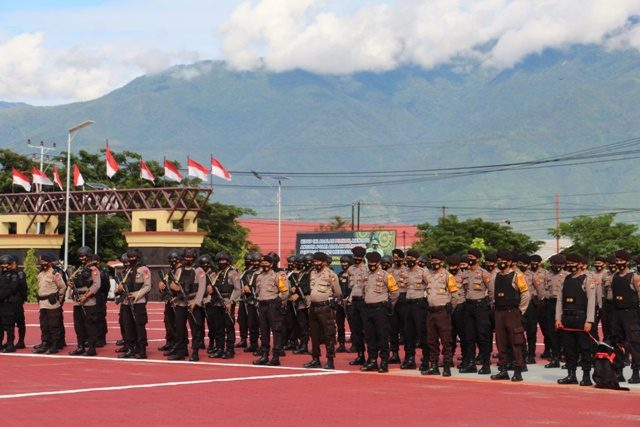 polda siagakan 191 personil pelantikan gubernur dan wagug baru sulteng