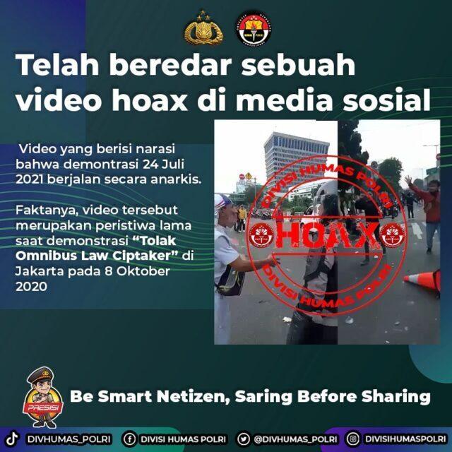 Polri Pastikan Beredarnya Video Rusuh Demo Hari Ini Hoaks.jpg